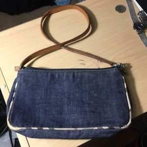 Burberry small vintage denim purse